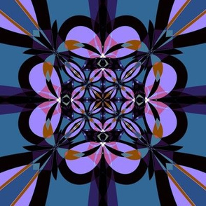 Purple and Slate Kaleidoscope