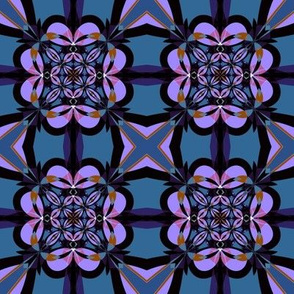 Purple and Slate Kaleidoscope small