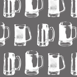 Beer Mugs on Charcoal // Large