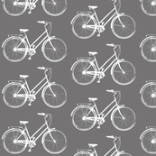 Bicycles on Grey - Medium