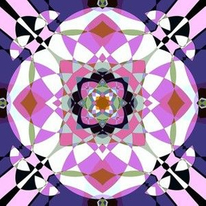 Bright Pink Kaleidoscope Large