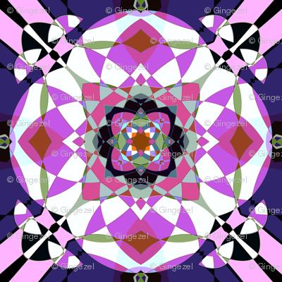 Bright Pink Kaleidoscope Small