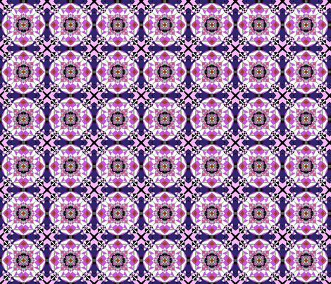 Bright Pink Kaleidoscope Small fabric by gingezel on Spoonflower - custom fabric