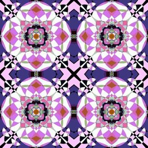 Bright Pink Kaleidoscope Small