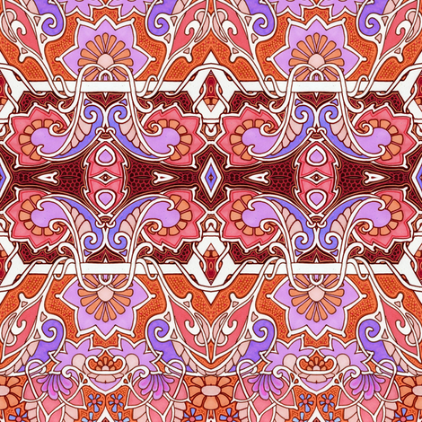 Pink and Purple Gardens fabric by edsel2084 on Spoonflower - custom fabric