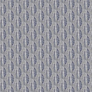 Navy Feather in Linen