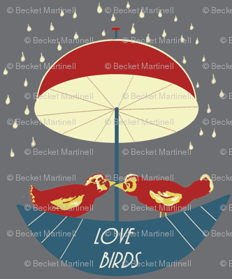 Love Birds Boating In the Rain