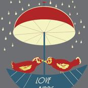 Love Birds Boating In the Rain