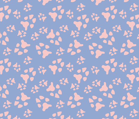 serene rose pawprints fabric by pamelachi on Spoonflower - custom fabric