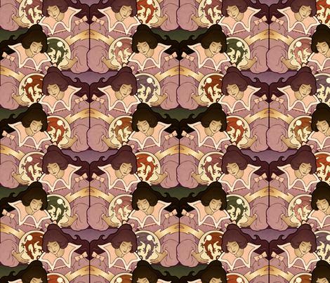 Dragon Dreamer, antiqued fabric by hannafate on Spoonflower - custom fabric