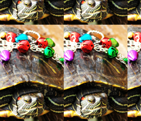 Christmas Turtle fabric by angelandspot on Spoonflower - custom fabric