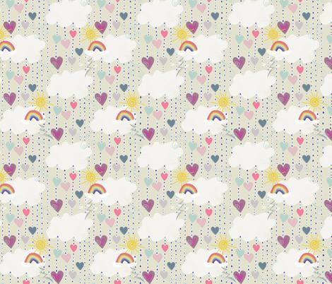 heart drops fabric by taramcgowan on Spoonflower - custom fabric