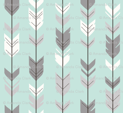 Arrow Feathers_Mint/Grey/Off-White