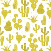 Cactus garden and succulent cacti plants for summer cool scandinavian style gender neutral mustard yellow