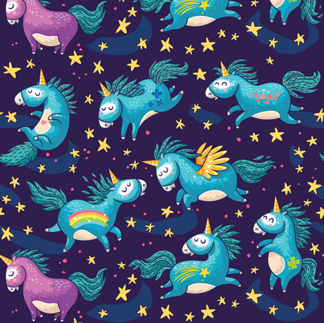 Unicorn Magic fabric by penguinhouse on Spoonflower - custom fabric