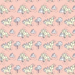 paper lion pastel pink