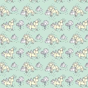 paper lion pastel mint