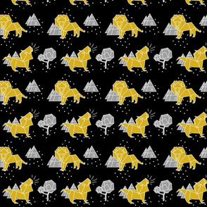 paper lion gold on black
