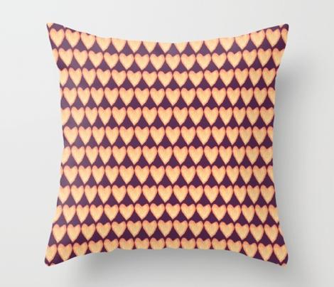Hammered Gold Hearts - Royal Purple