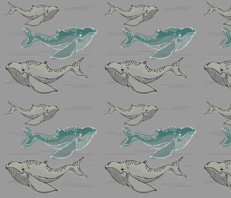 Whales_detailed_v2 fabric by sprout_handmade on Spoonflower - custom fabric