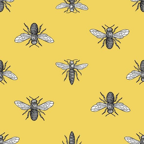 Avignon Bees - Sunflower Yellow