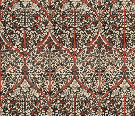 florid Art Nouveau design fabric by unseen_gallery_fabrics on Spoonflower - custom fabric