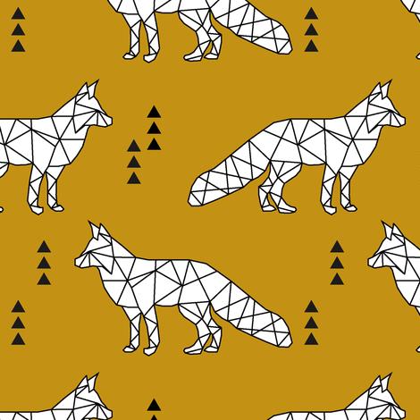 geometric fox // myan fabric by littlearrowdesign on Spoonflower - custom fabric