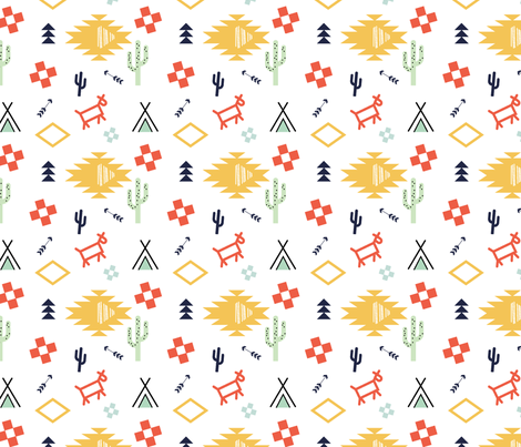 Aztecia_cave_prints-01 fabric by pip_pottage on Spoonflower - custom fabric