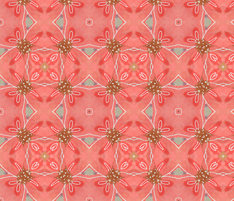 Coral Squares fabric by jennifergeldard on Spoonflower - custom fabric
