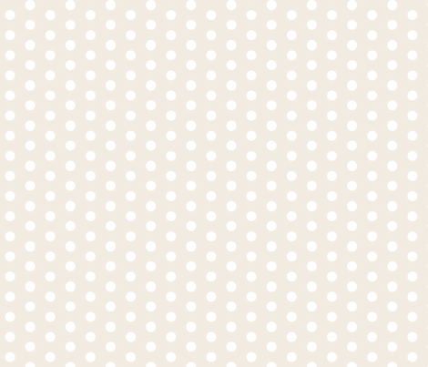 White Polka Dots on Cream fabric by december_rose on Spoonflower - custom fabric