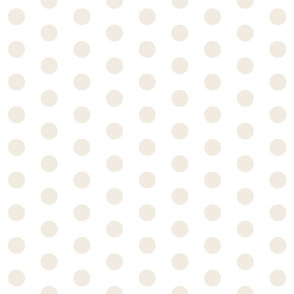 Cream Polka Dots - Large