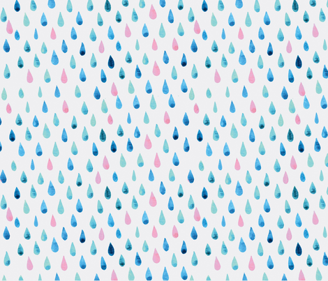 watercolor drops fabric by danioulman on Spoonflower - custom fabric