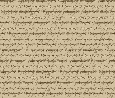 Elvish Writing Medium fabric by fandomfabric on Spoonflower - custom fabric