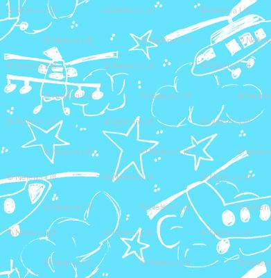 Chopper White & Sky Blue