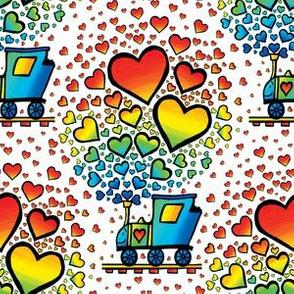 Rainbow Happy Heart Train