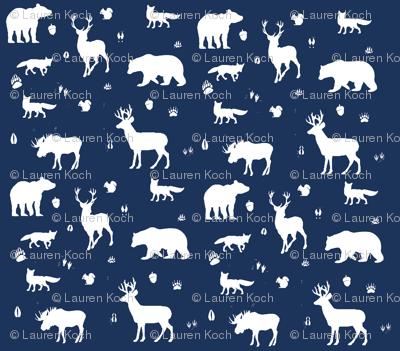 woodland animals // midnight