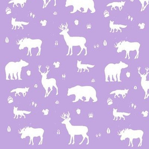 woodland animals // lilac