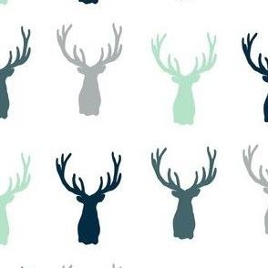 Multi Rustic Deer Head