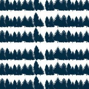Navy Wood Tree Line
