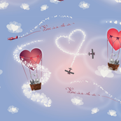 Loving Cats in hot air balloons