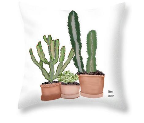 Southwest Succulents and Cactus Plants large design