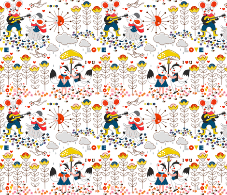 Love is in the air fabric by theboutiquestudio on Spoonflower - custom fabric