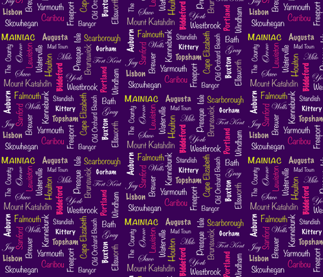 Maine Towns Purple fabric by fernleaf on Spoonflower - custom fabric