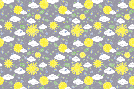 You Are My Sunshine fabric by abearcub on Spoonflower - custom fabric