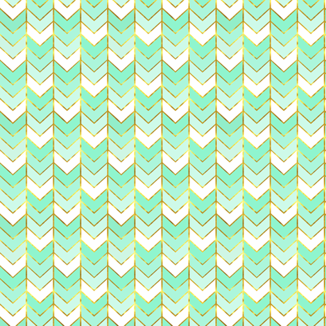 Mini Gilded Ombre Herringbone in Mint fabric by willowlanetextiles on Spoonflower - custom fabric
