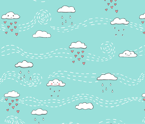 emotional clouds fabric by doodleandhoob on Spoonflower - custom fabric