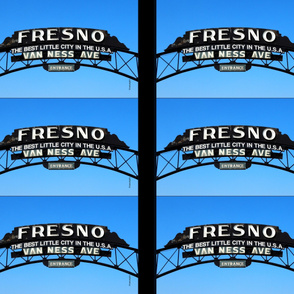 Fresno Sign Pillow Design