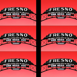 Fresno Sign Pillow Design (red)