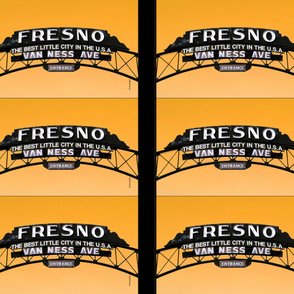 Fresno Sign Pillow Design (orange)
