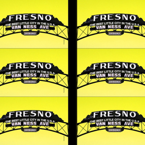 Fresno Sign Pillow Design (yellow)